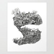 THE TOWN Art Print