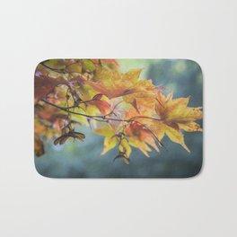 Yellow Acer Leaves Bath Mat