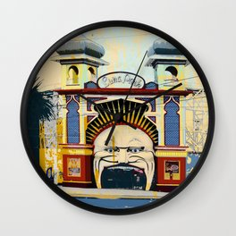 Luna Park in St.Kilda Wall Clock