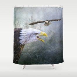 Eagle territory Shower Curtain