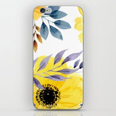 FLOWERS WATERCOLOR 10 iPhone Skin