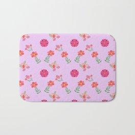 flowers rosas rose pink Bath Mat