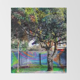Colorful tree Throw Blanket