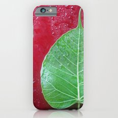 Leaf on red iPhone 6s Slim Case