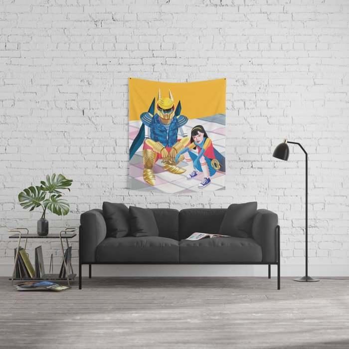 Asian Squatting Wall Tapestry