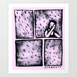 late summer rain. Art Print