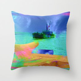 View of The Lady In Waiting Throw Pillow