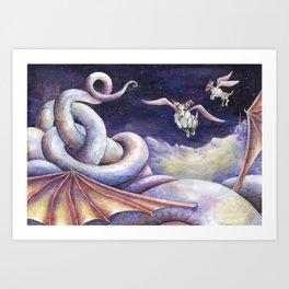 The Dragon's Downfall Art Print