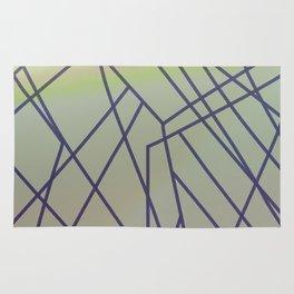Design lines blue green Rug