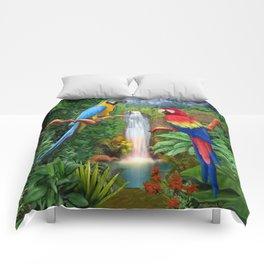 Macaw Tropical Parrots Comforters
