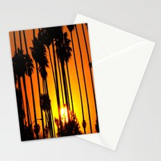 Striped Sunset Stationery Cards