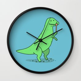 T-Rex Has An Itch Wall Clock