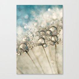 Sapphire & Silver Sparkle Canvas Print