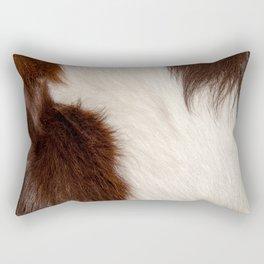 Animal Fur Brown And White Rectangular Pillow