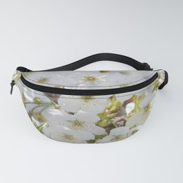 Tiny White Flowers Fanny Pack