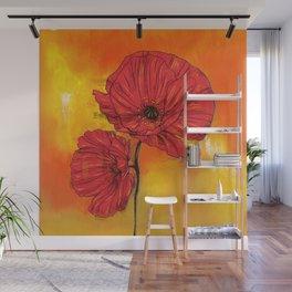 Poppy Variation 7 Wall Mural