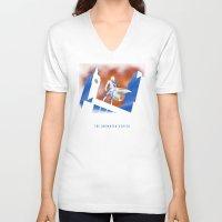 cartoon V-neck T-shirts featuring Sherlock Cartoon by harebrained
