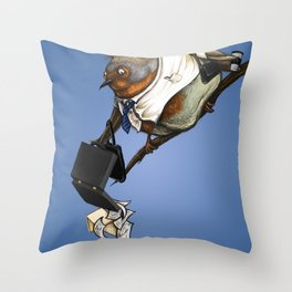 workbird Throw Pillow