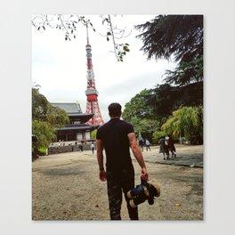 """Man N Bear """"Tokyo Tower"""" Canvas Print"""