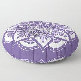 Ultraviolet Flower Mandala Floor Pillow