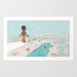 Jabari On Top of The World Art Print
