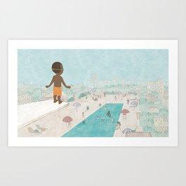 Jabari On Top of The World Art Print