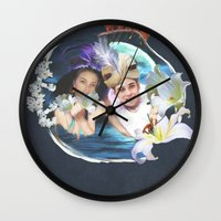 aladdin Wall Clocks featuring Aladdin & Jasmine by FarbCafé