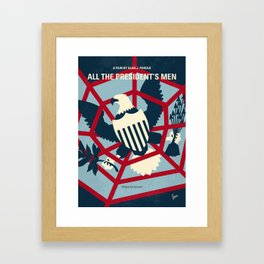 No678 My All the presidents Men minimal movie poster Framed Art Print