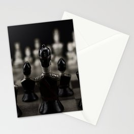 Chess pieces Stationery Cards