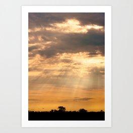African Summer Sunset 2 Art Print