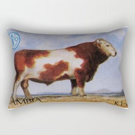 Simmental Bull Rectangular Pillow