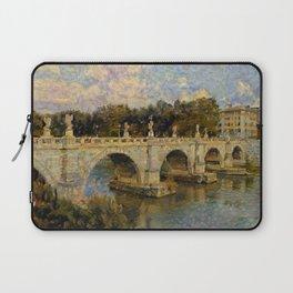 French Impressionistic Arched Bridge Laptop Sleeve