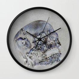 """24 Karat Cranium 2"" Wall Clock"