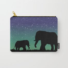 Elephant Silhouettes  Carry-All Pouch