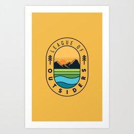 League of Outsiders Art Print