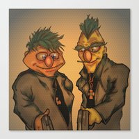 muppets Canvas Prints featuring Boondock Muppets by Justin Rochelle
