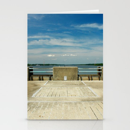 sunny day on the lake Stationery Cards