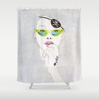 pirates Shower Curtains featuring Pirates Mania by SEVENTRAPS