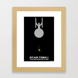 Trek I: The Motion Picture Minimalist Poster Framed Art Print