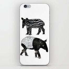 Malayan Tapir & Baby iPhone Skin