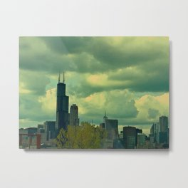 The Softer City View Metal Print
