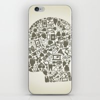 medicine iPhone & iPod Skins featuring Head medicine by aleksander1