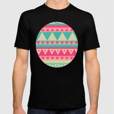 Tropical Tribal Black Mens Fitted Tee MEDIUM