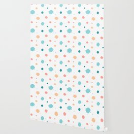 cute pattern background illustration with ink blots Wallpaper