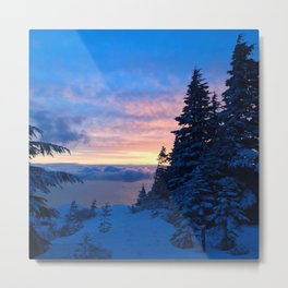 Sunset at Eagle Bluffs Metal Print