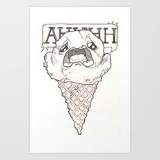 I scream ice cream Art Print