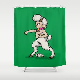 Faun Fighter (lamb) Shower Curtain