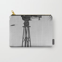 Vintage old time movie camera on a beach Carry-All Pouch