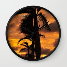 Super Typhoon Sunset Wall Clock