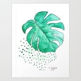 monstera monday Art Print